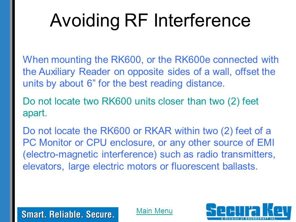 Avoiding RF Interference