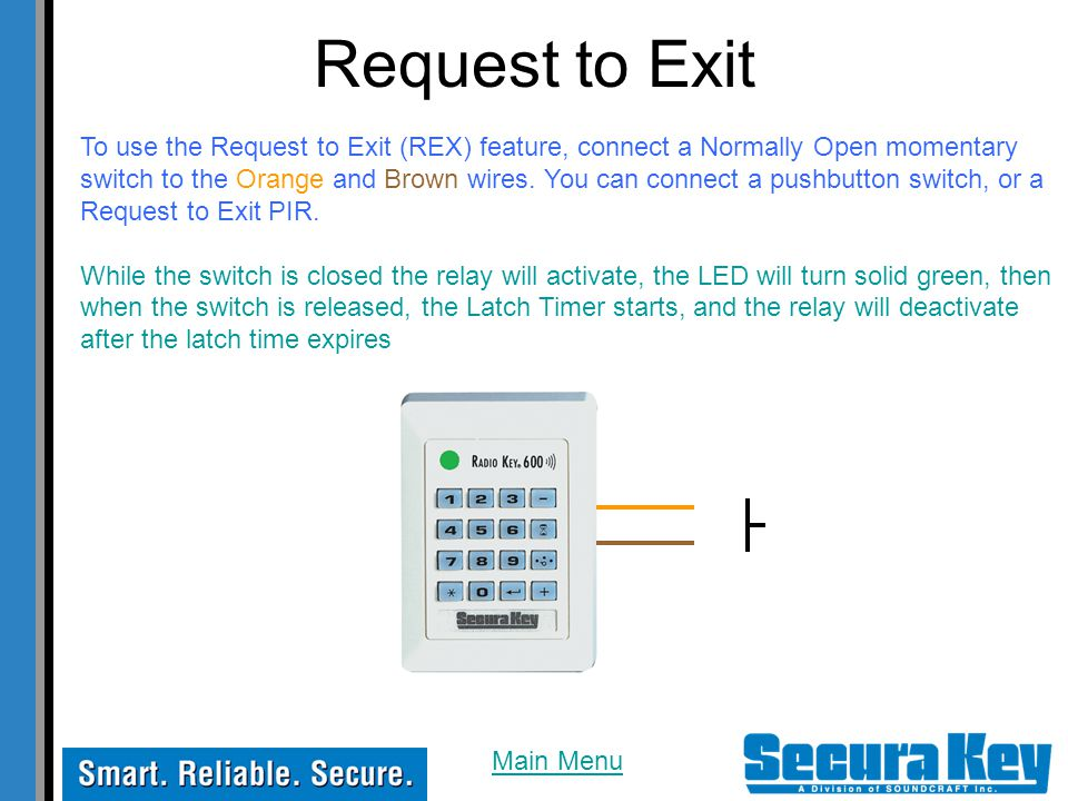 Request to Exit