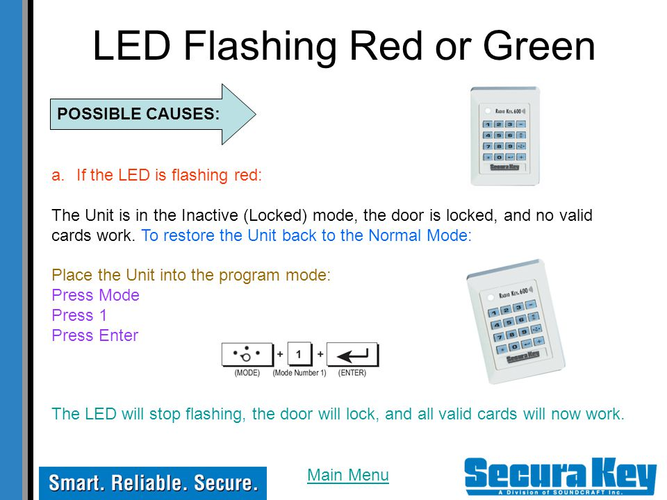LED Flashing Red or Green