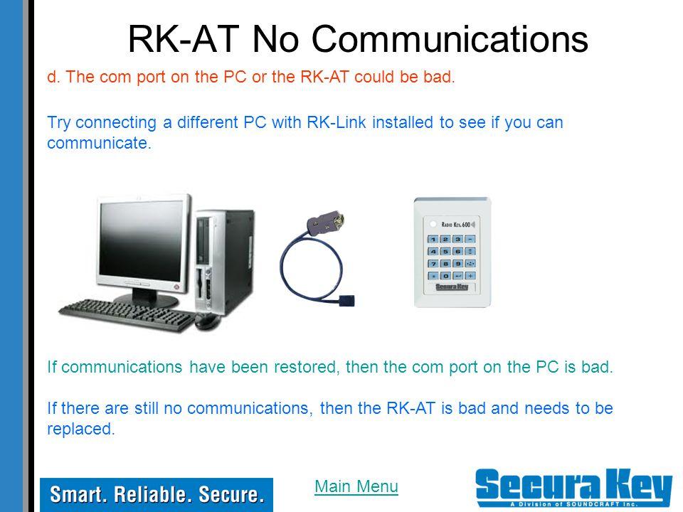 RK-AT No Communications