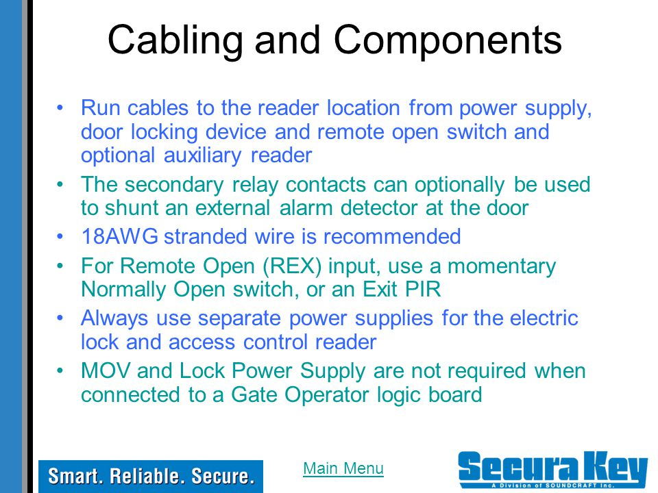 Cabling and Components