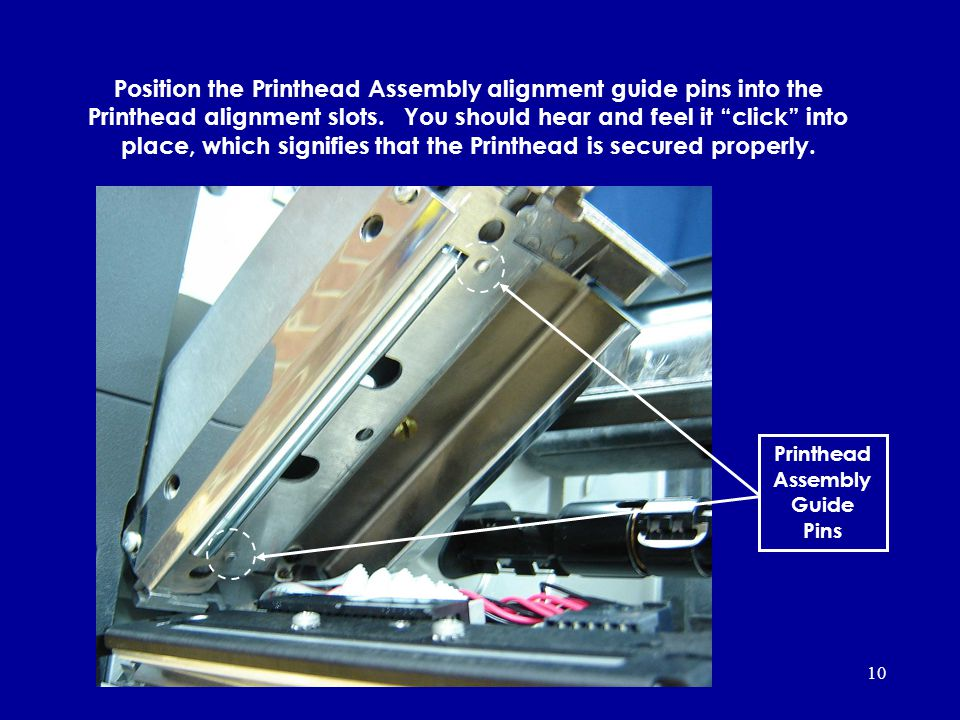 Printhead Assembly Guide Pins