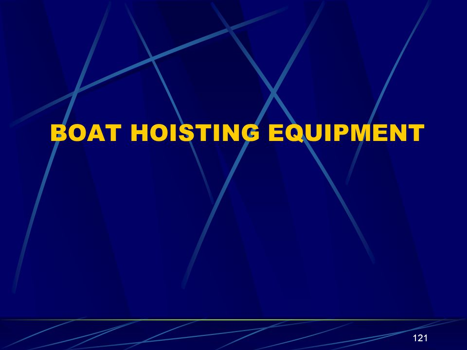 BOAT HOISTING EQUIPMENT