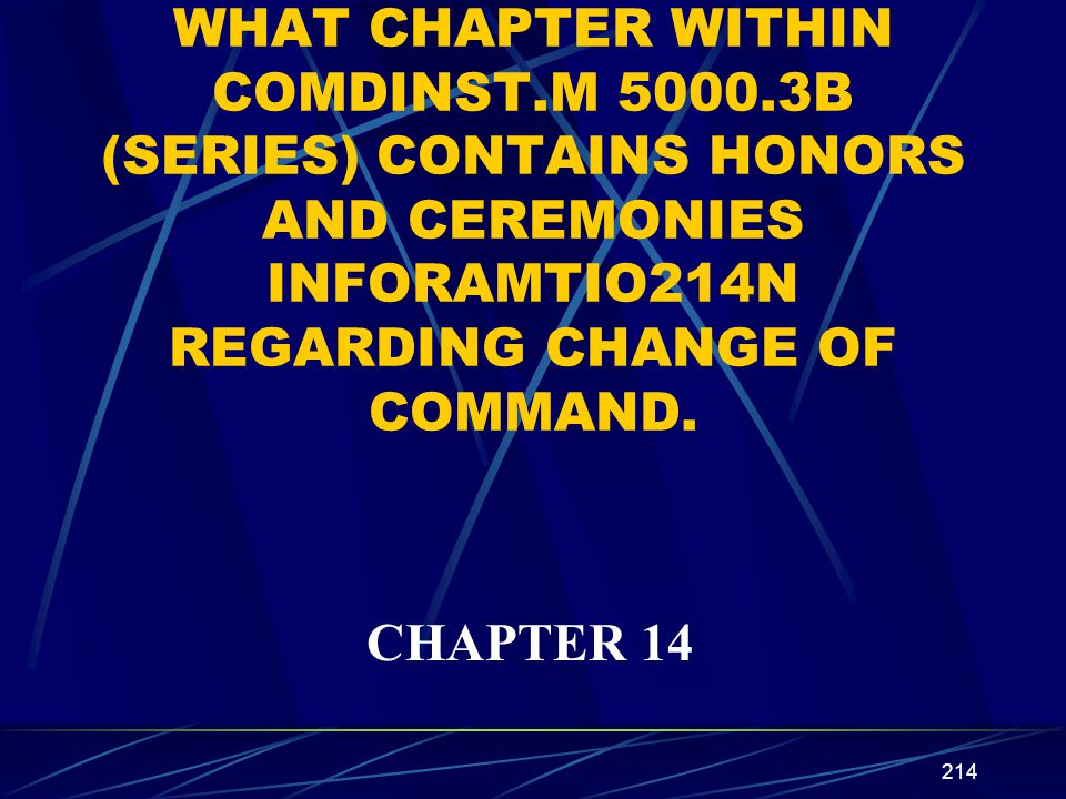 WHAT CHAPTER WITHIN COMDINST. M 5000