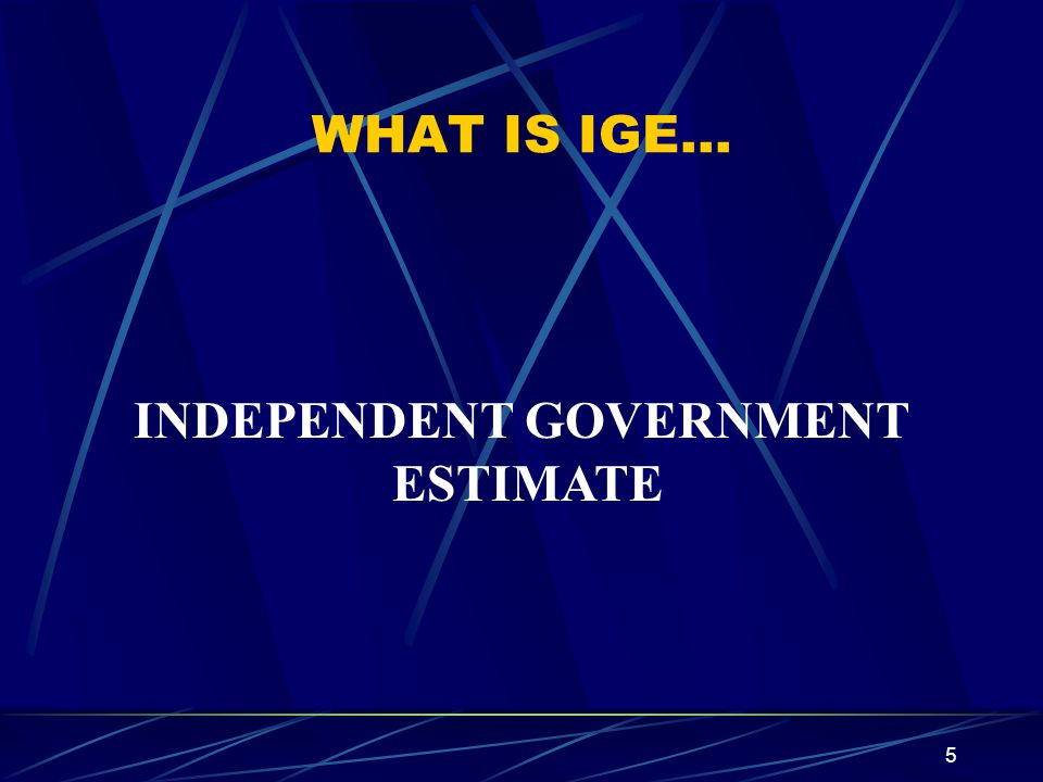 INDEPENDENT GOVERNMENT