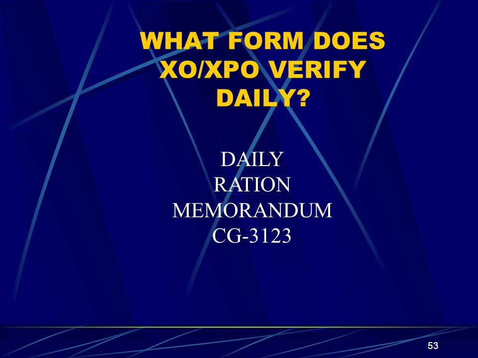 WHAT FORM DOES XO/XPO VERIFY DAILY
