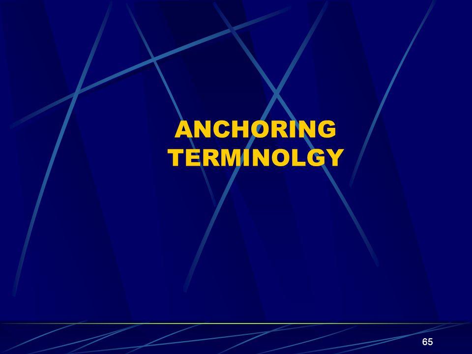 ANCHORING TERMINOLGY