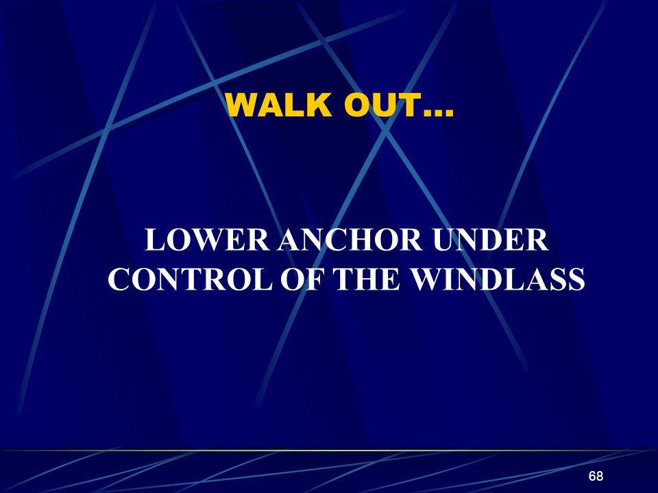 CONTROL OF THE WINDLASS