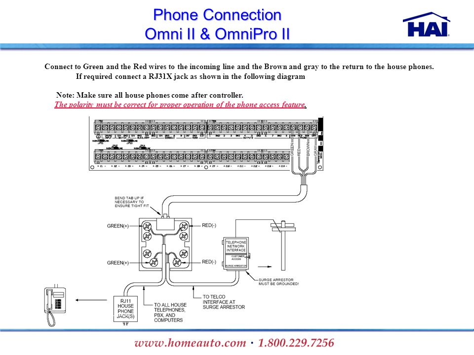 Phone+Connection+Omni+II+%26+OmniPro+II omni step wiring diagram wiring low voltage under cabinet lighting Basic Electrical Wiring Diagrams at webbmarketing.co