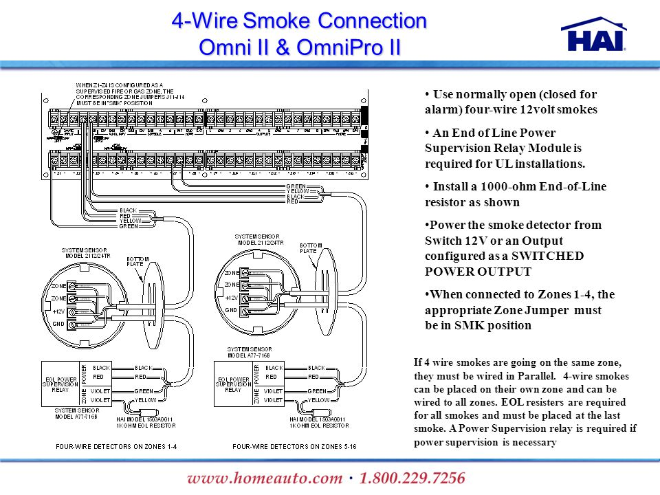 4 Wire+Smoke+Connection+Omni+II+%26+OmniPro+II installation training ppt download Basic Electrical Wiring Diagrams at webbmarketing.co