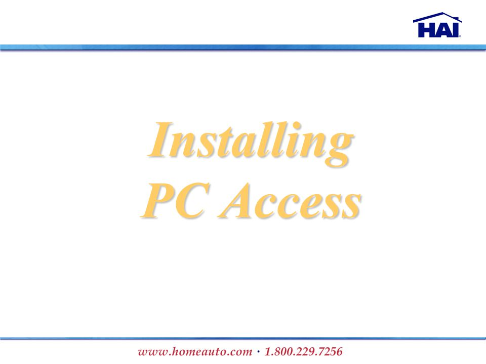 Installing PC Access
