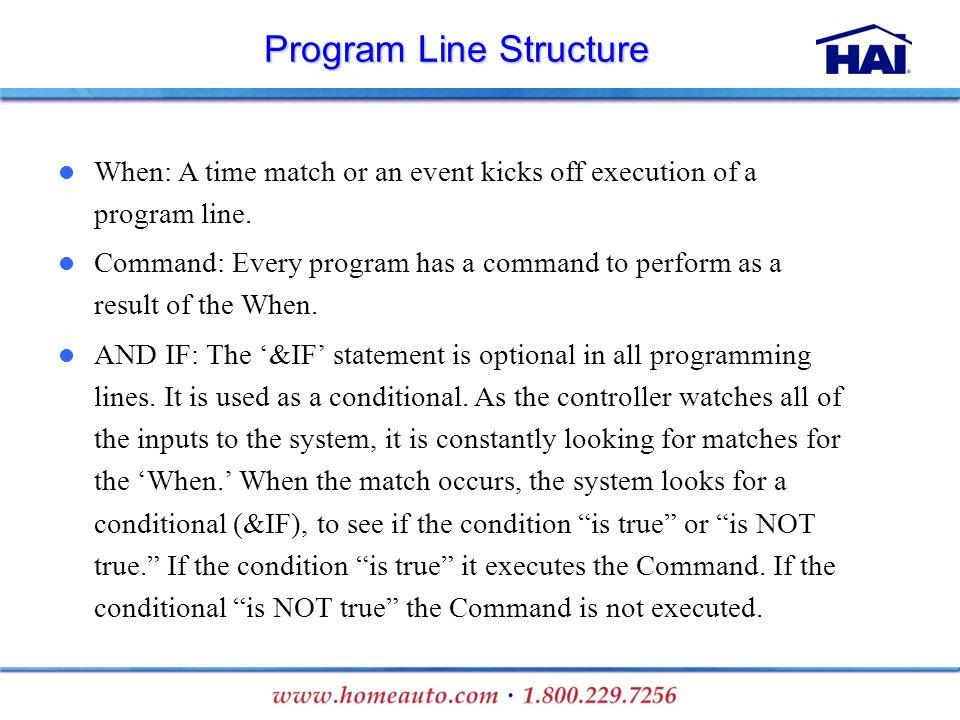 Program Line Structure