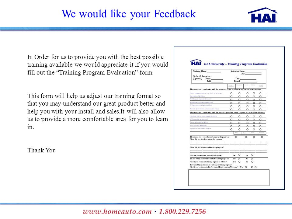 Training Program Feedback Form Sample Training Feedback Forms