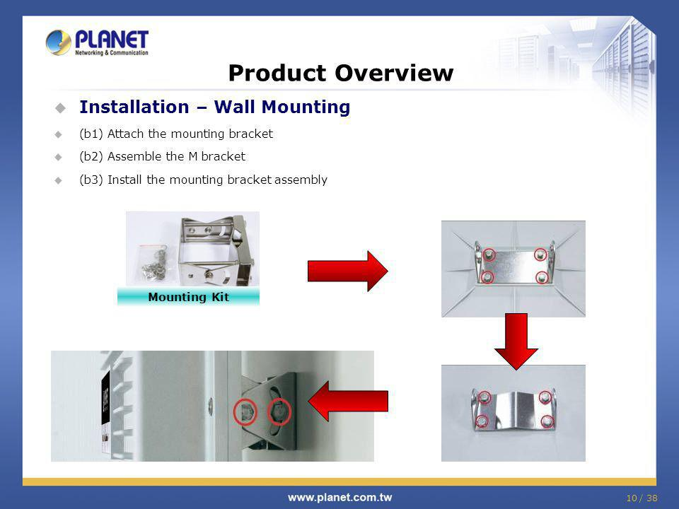 Product Overview Installation – Wall Mounting