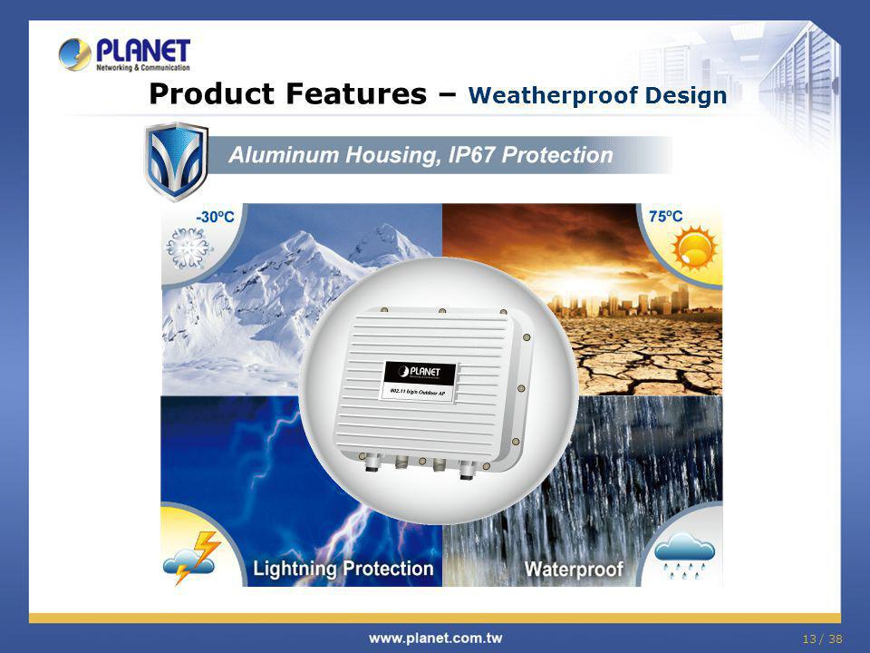 Product Features – Weatherproof Design