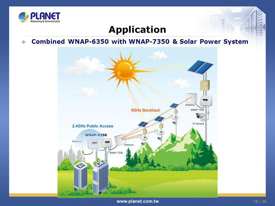 Application Combined WNAP-6350 with WNAP-7350 & Solar Power System