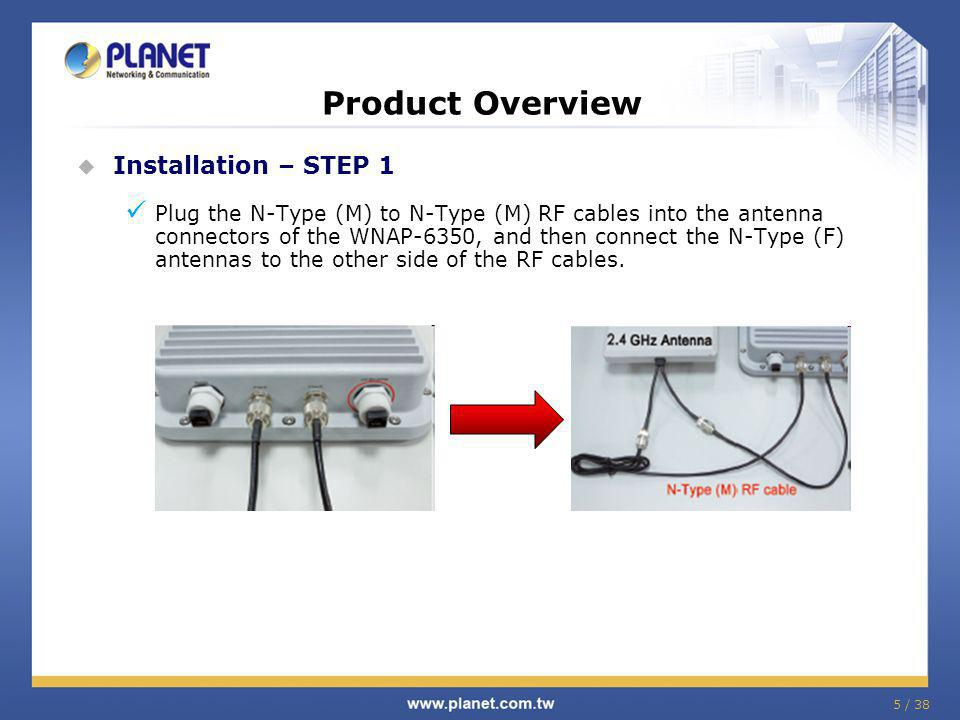 Product Overview Installation – STEP 1