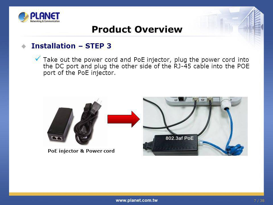 PoE injector & Power cord