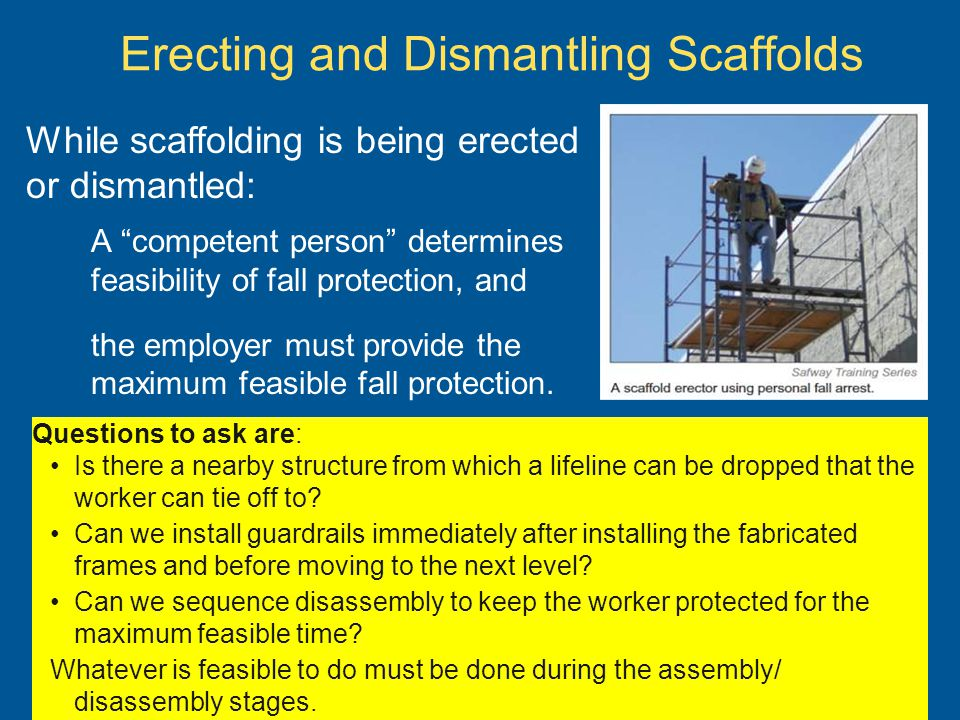 Erecting and Dismantling Scaffolds