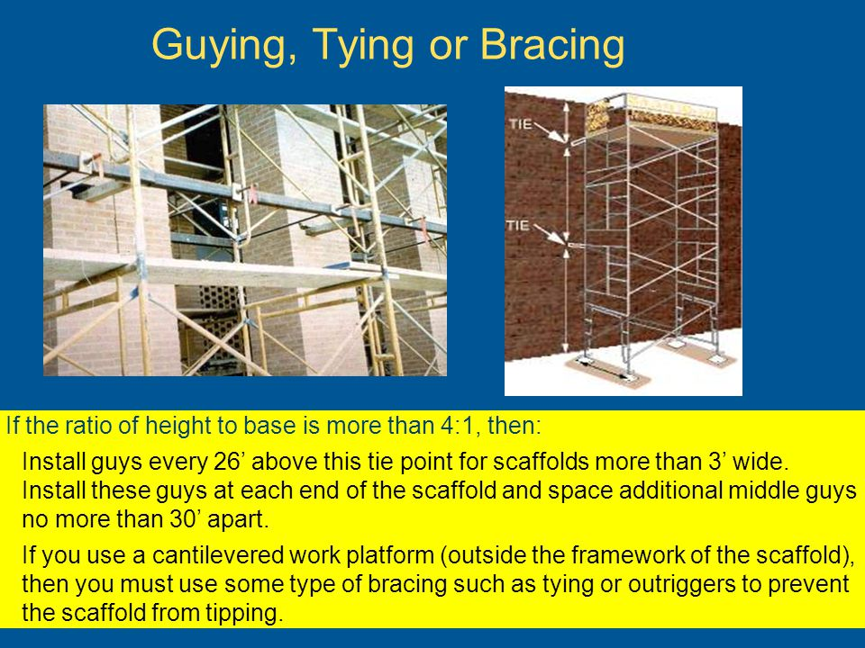 Guying, Tying or Bracing