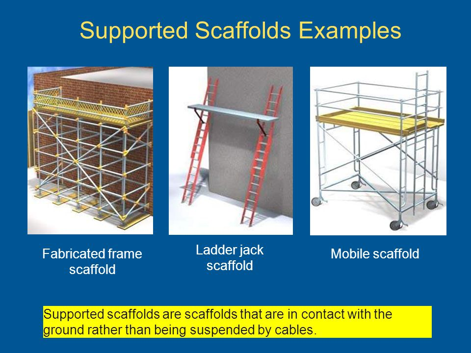 Supported Scaffolds Examples