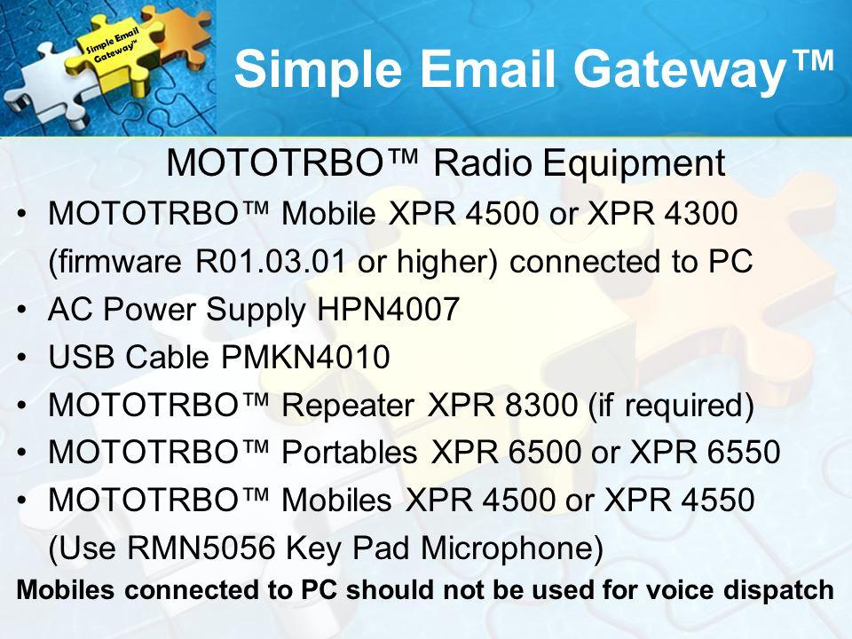 MOTOTRBO™ Radio Equipment