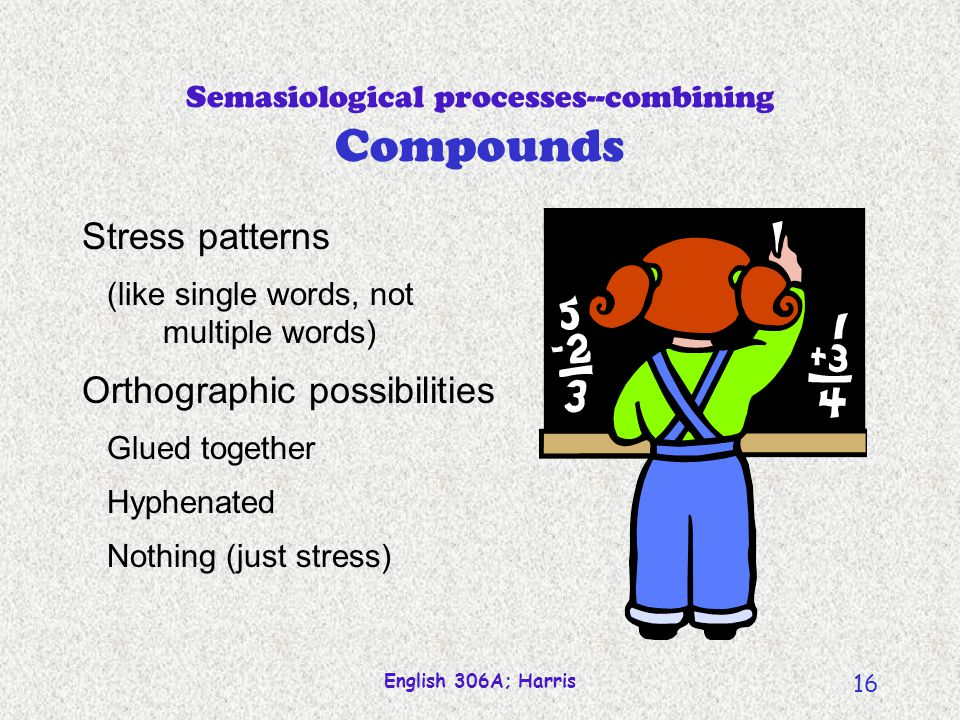 Semasiological processes--combining Compounds