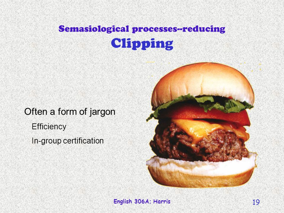 Semasiological processes--reducing Clipping