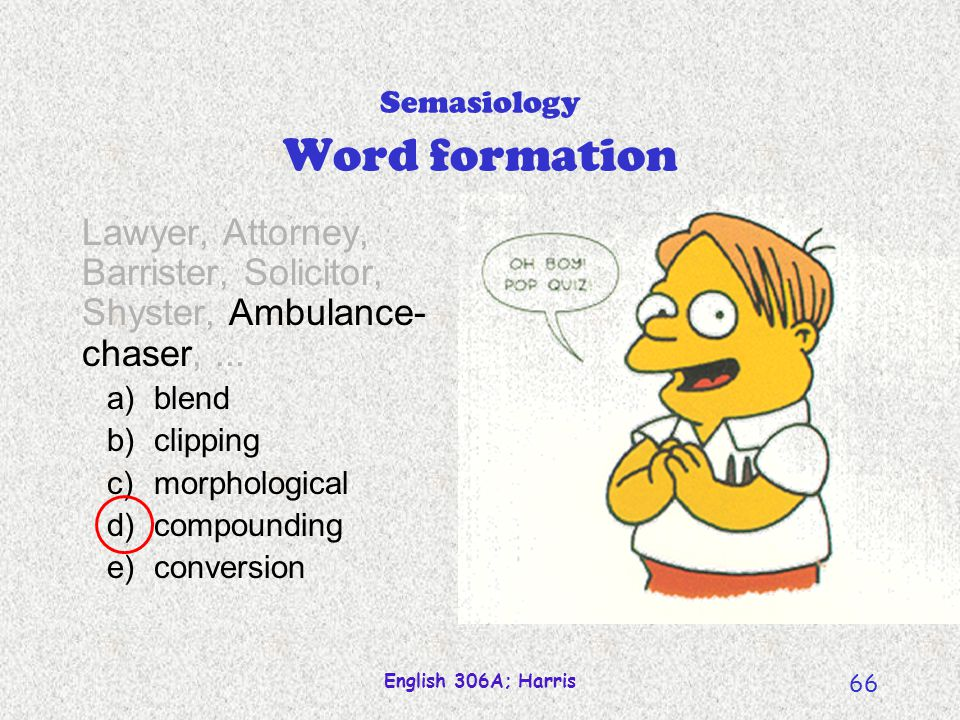 Semasiology Word formation