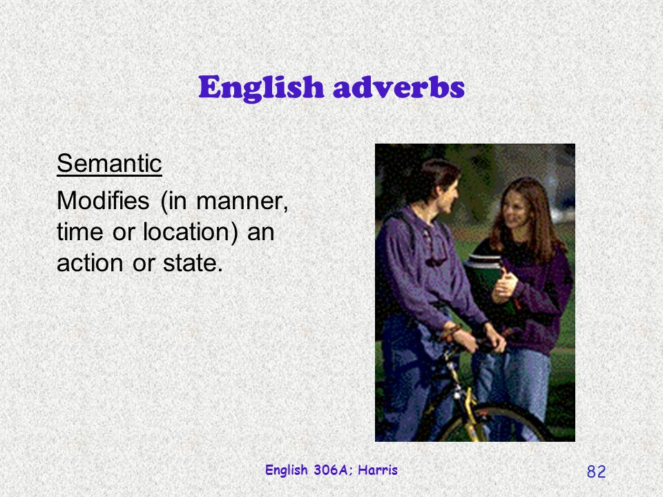 English adverbs Semantic
