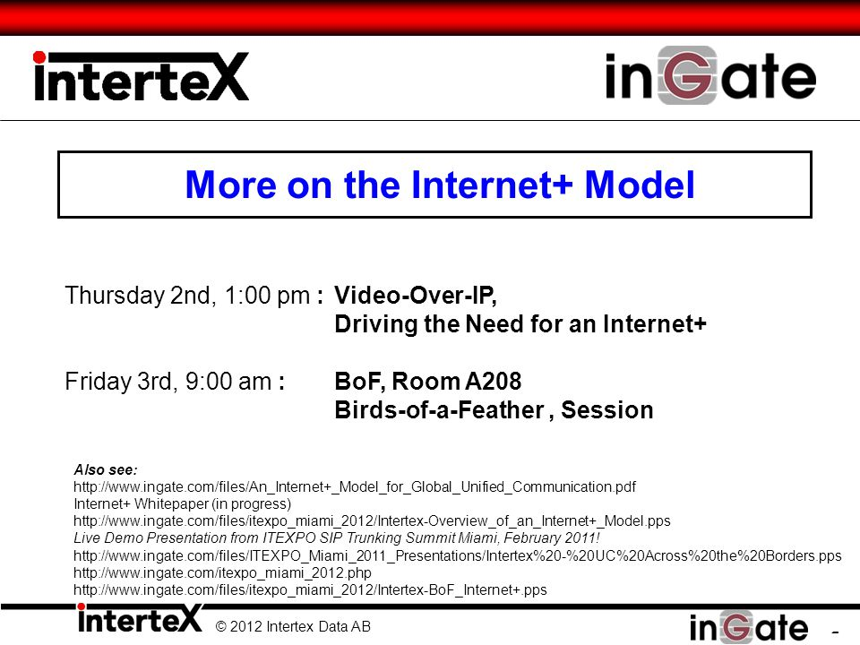 More on the Internet+ Model