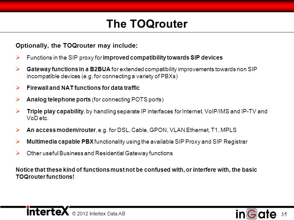 The TOQrouter Optionally, the TOQrouter may include:
