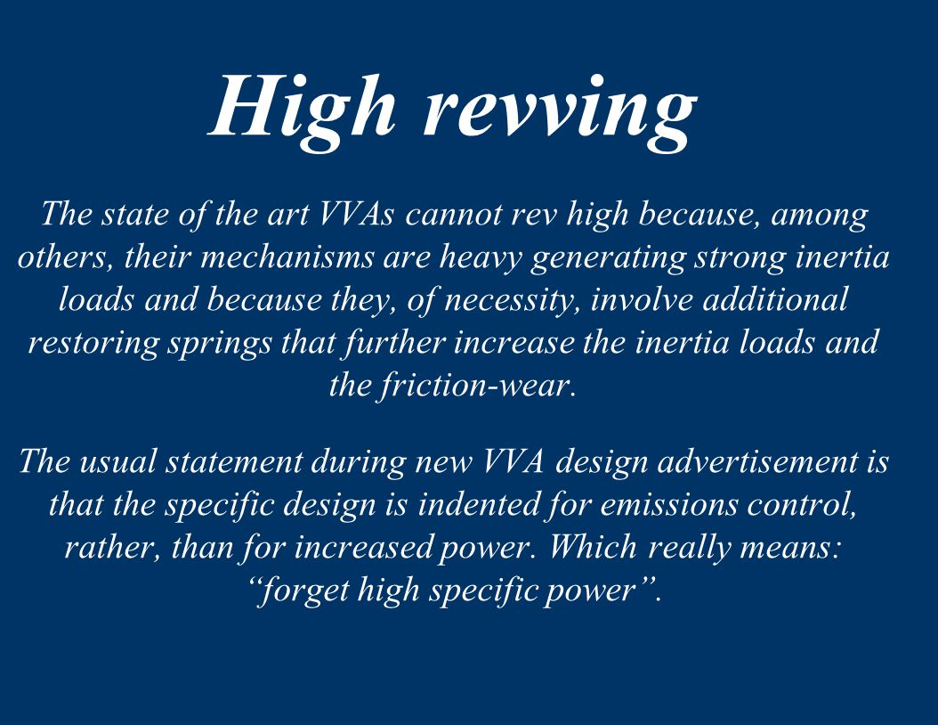 High revving