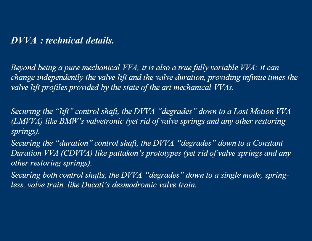 DVVA : technical details.