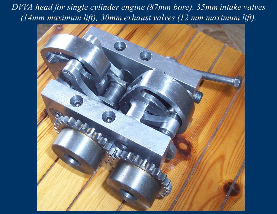 DVVA head for single cylinder engine (87mm bore)