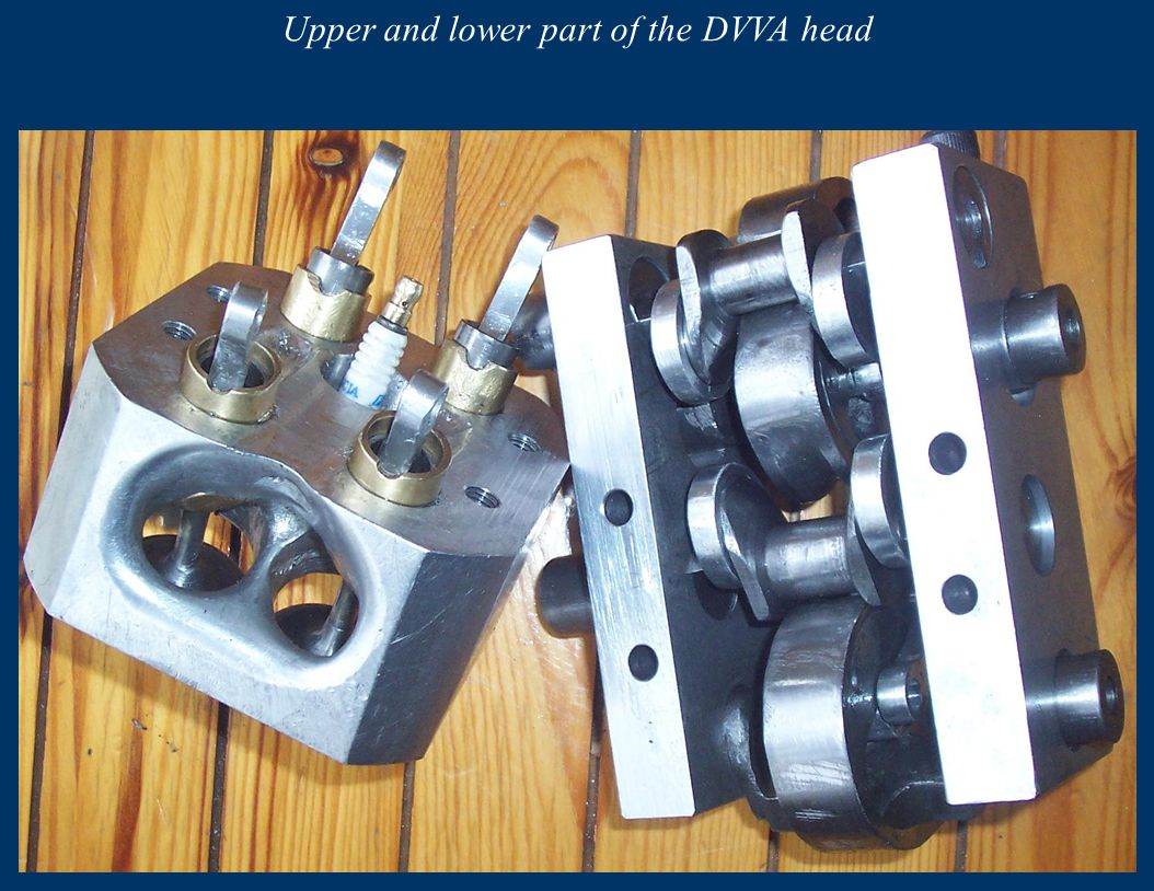 Upper and lower part of the DVVA head