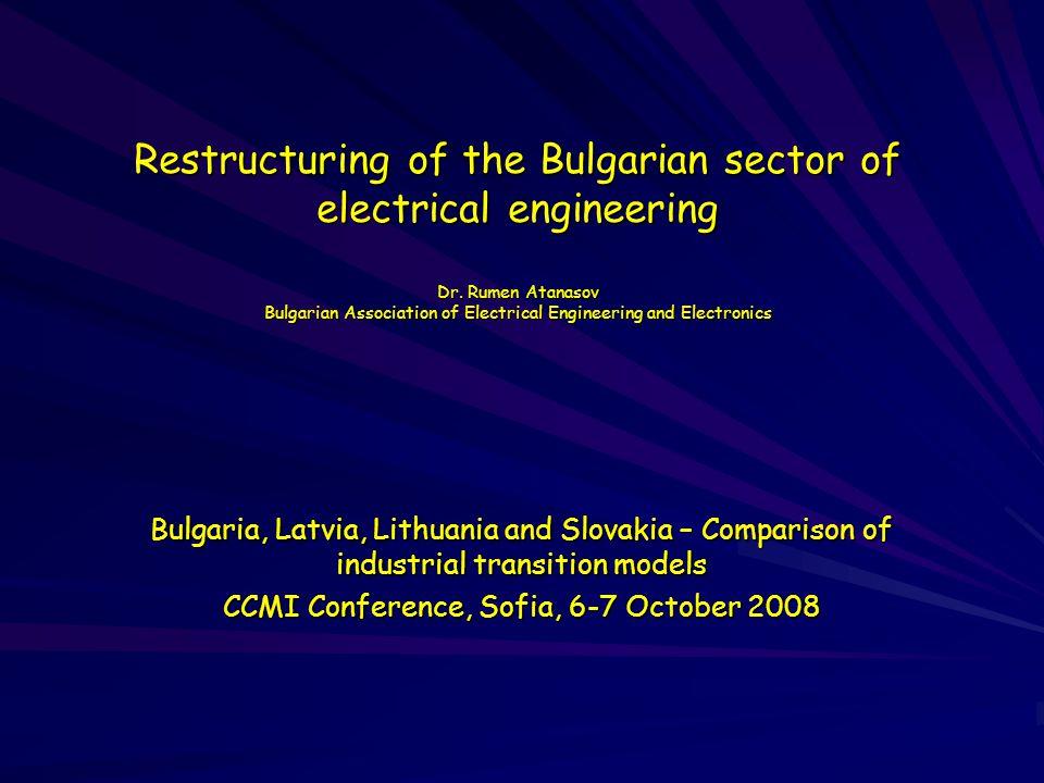 CCMI Conference, Sofia, 6-7 October 2008