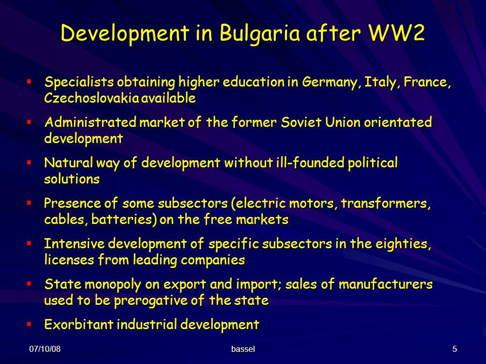 Development in Bulgaria after WW2