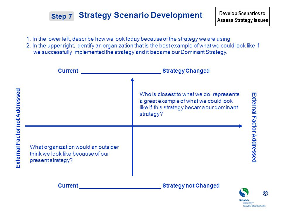 Strategy Scenario Development