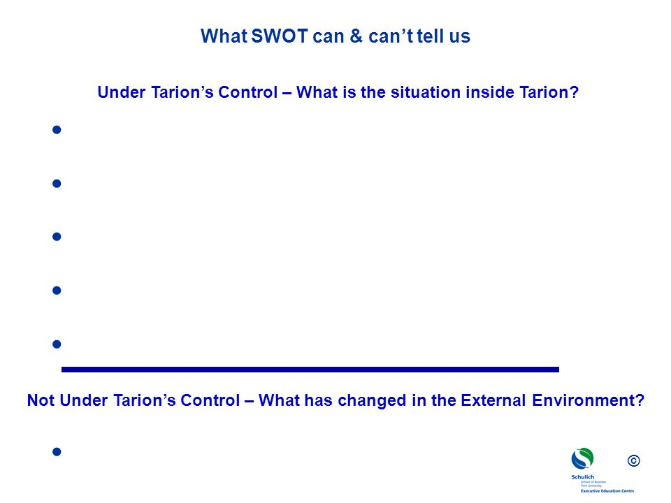 What SWOT can & can't tell us