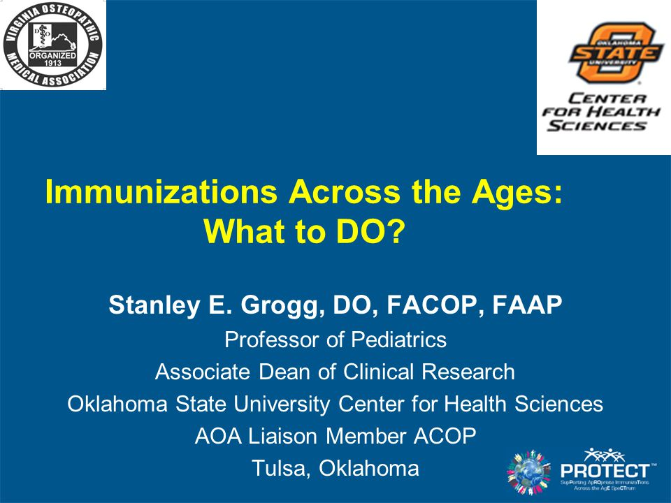 Immunizations Across the Ages: What to DO
