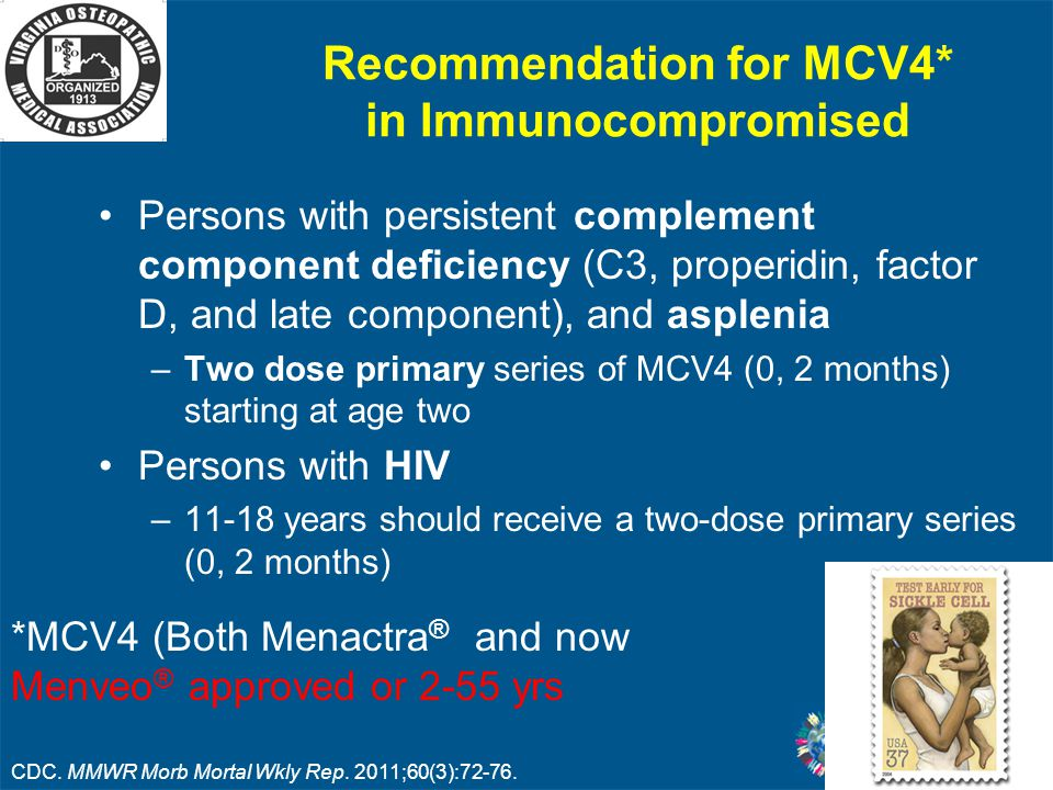 Recommendation for MCV4* in Immunocompromised