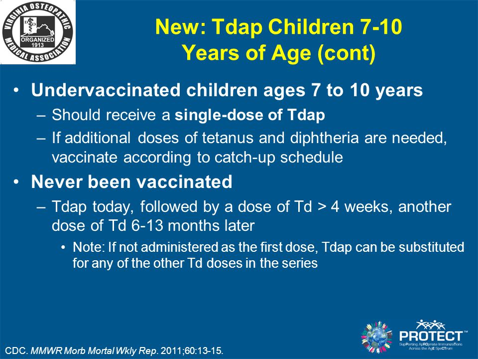 New: Tdap Children 7-10 Years of Age (cont)