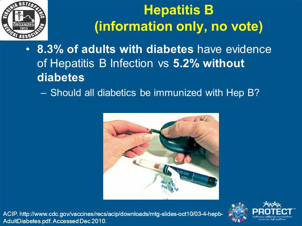Hepatitis B (information only, no vote)