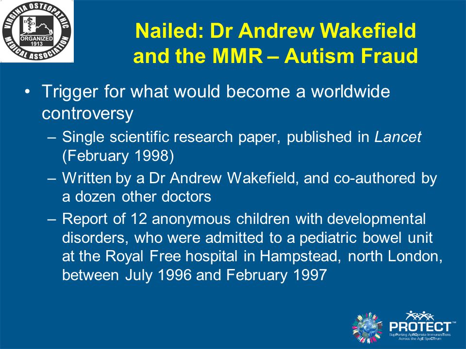 Nailed: Dr Andrew Wakefield and the MMR – Autism Fraud