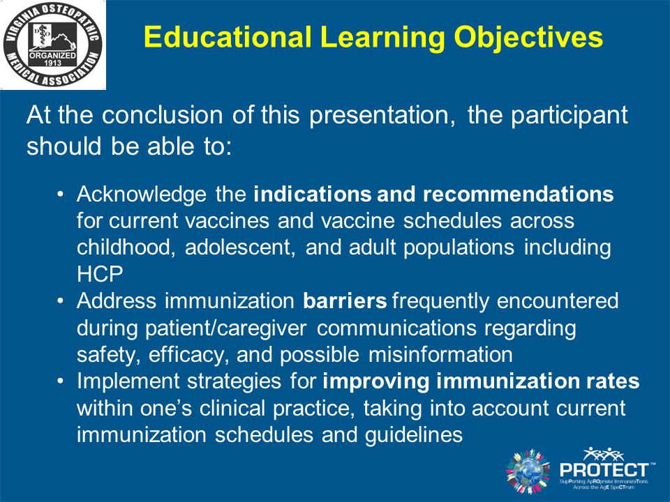 Educational Learning Objectives