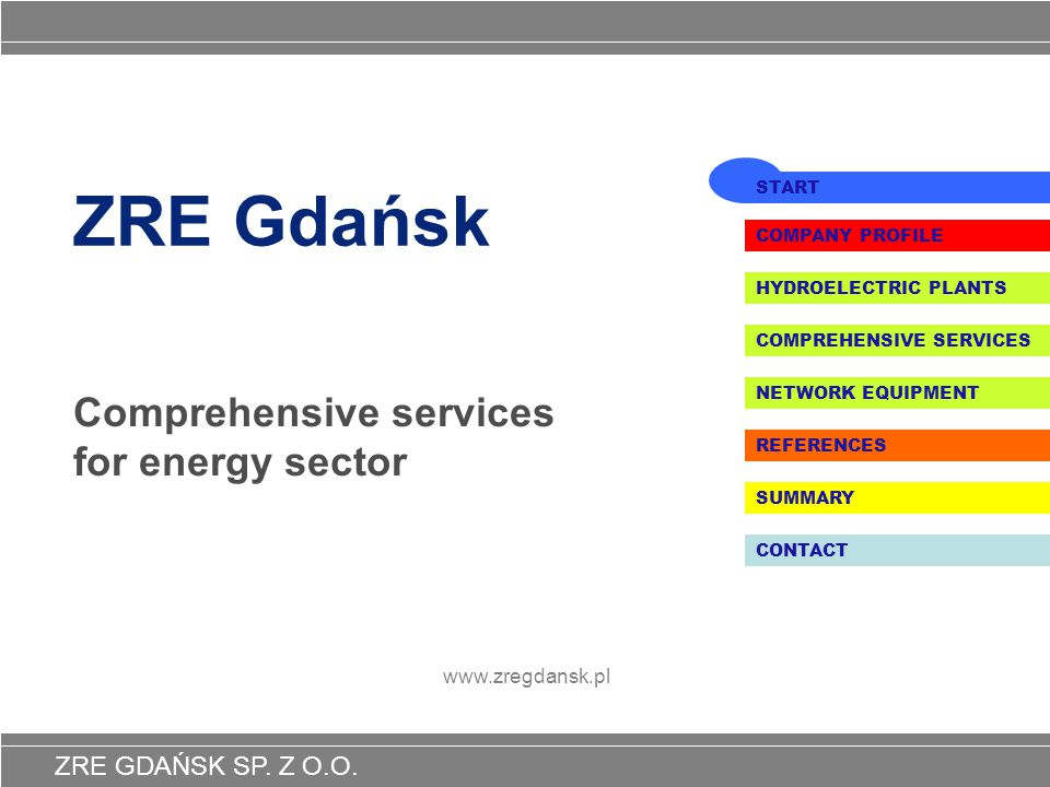 Comprehensive services for energy sector