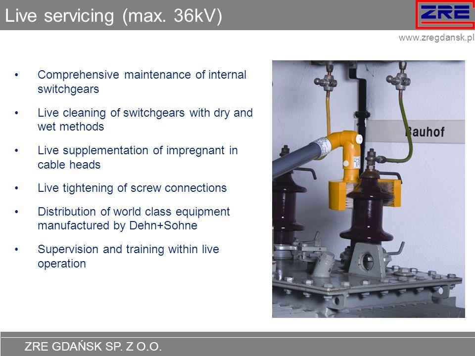 Live servicing (max. 36kV)