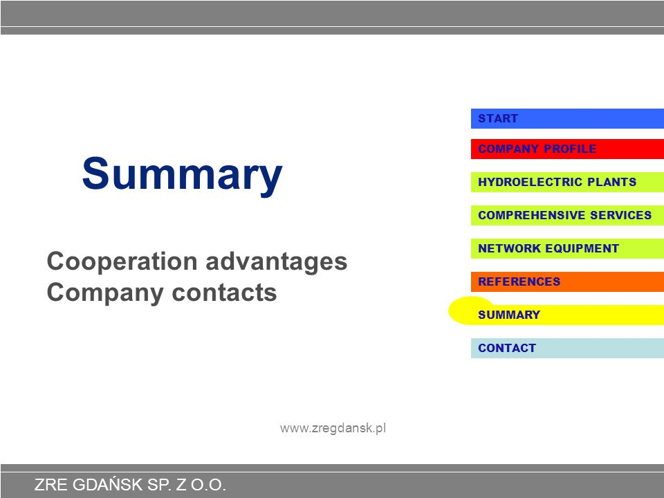 Cooperation advantages Company contacts