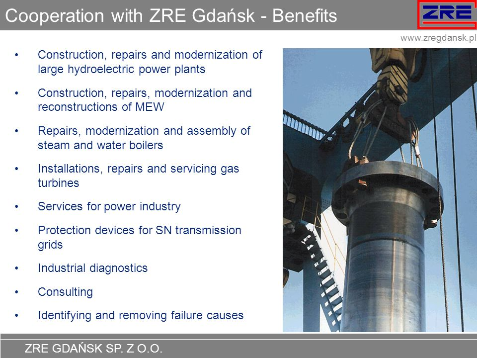 Cooperation with ZRE Gdańsk - Benefits